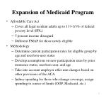 expansion of medicaid program