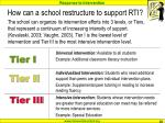 how can a school restructure to support rti