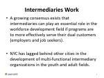 intermediaries work