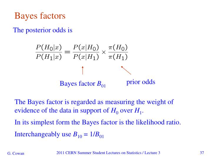 Bayes factors