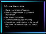 informal complaints