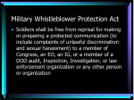 military whistleblower protection act