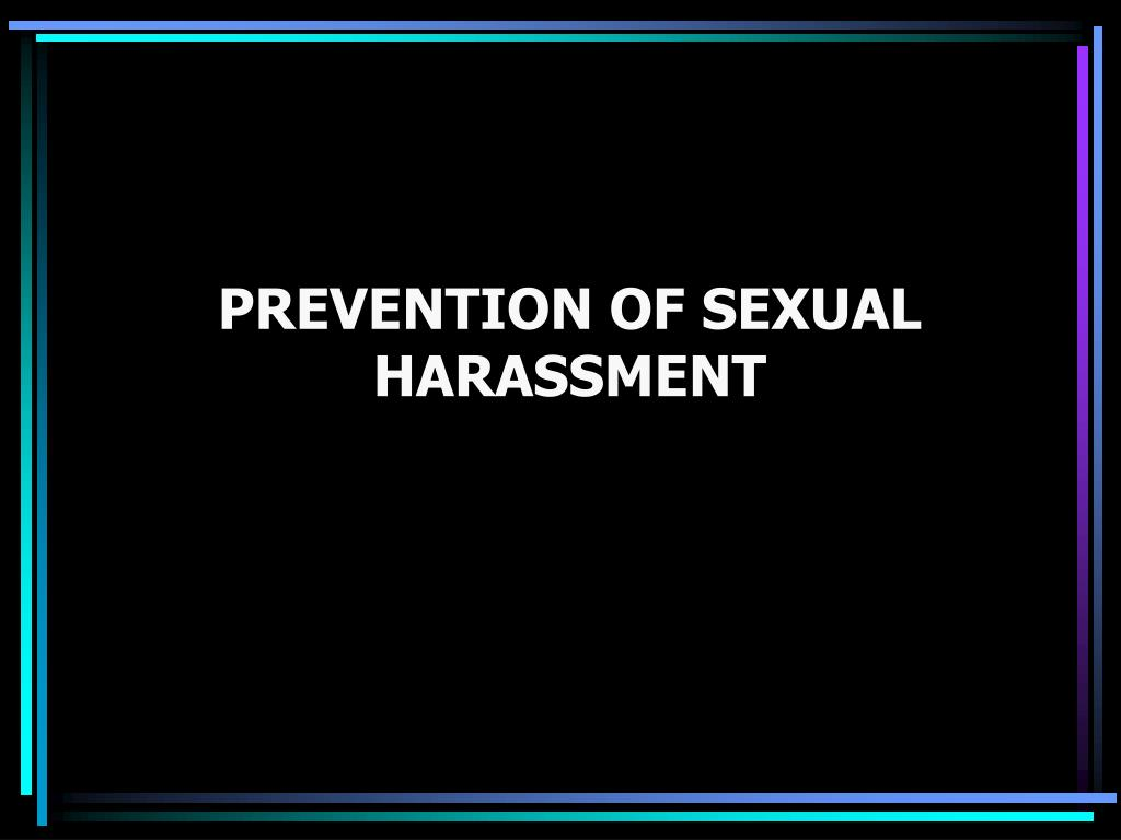 prevention of sexual harassment l.