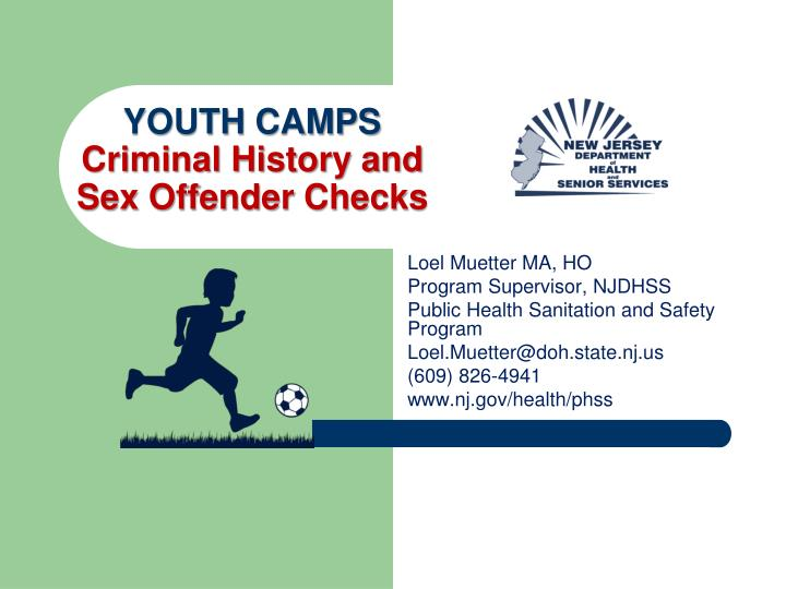 youth camps criminal history and sex offender checks n.