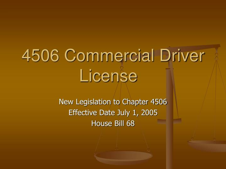 4506 commercial driver license n.
