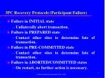 3pc recovery protocols participant failure