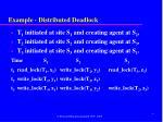 example distributed deadlock