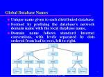 global database names
