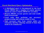 oracle distributed query optimization