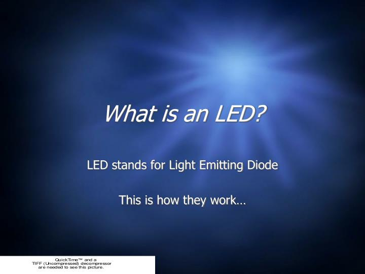 what is an led n.