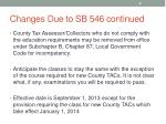 changes due to sb 546 continued