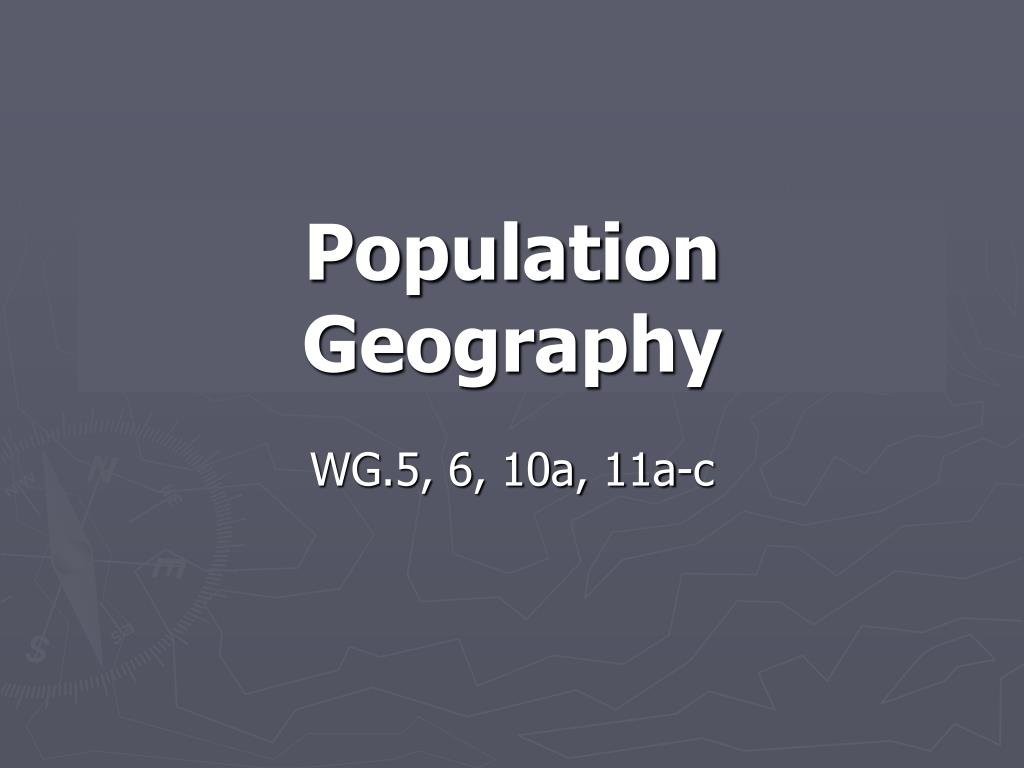population geography l.