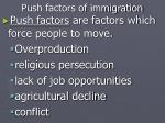 push factors of immigration