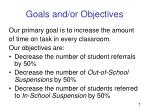 goals and or objectives