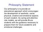 philosophy statement