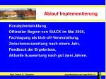 ablauf implementierung