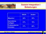 soziale integration i belastungen
