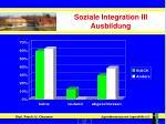 soziale integration iii ausbildung