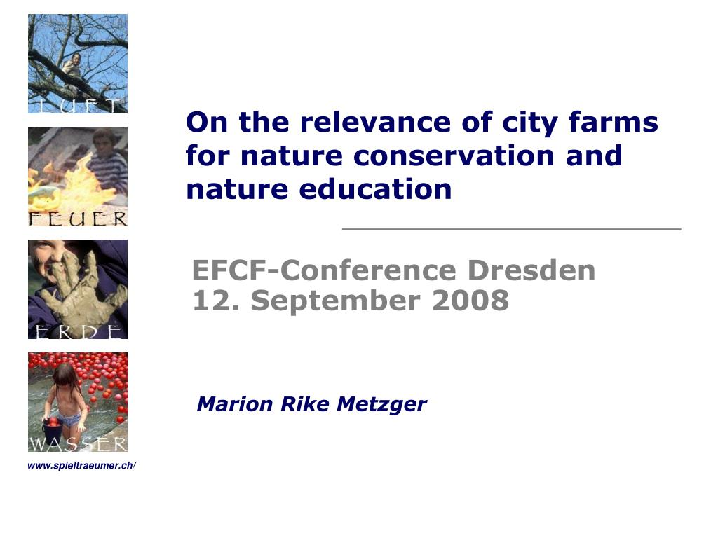 on the relevance of city farms for nature conservation and nature education l.