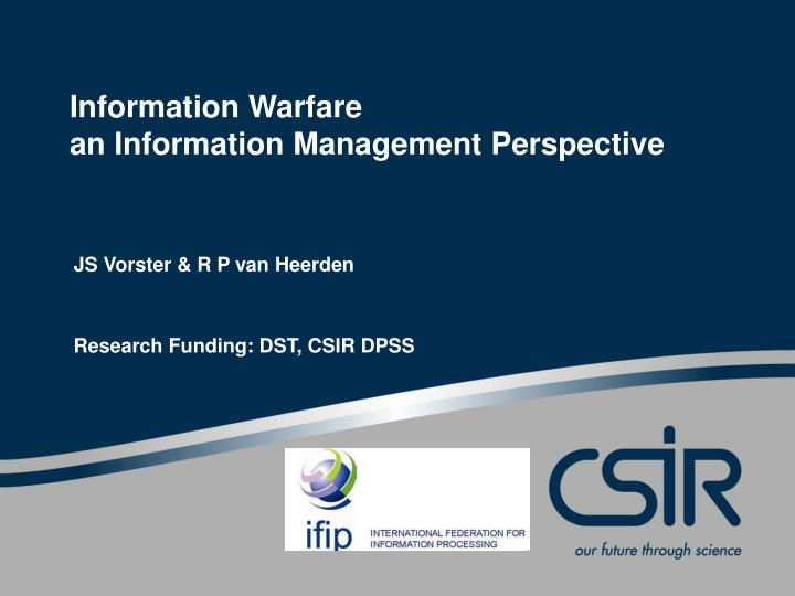 information warfare an information management perspective n.