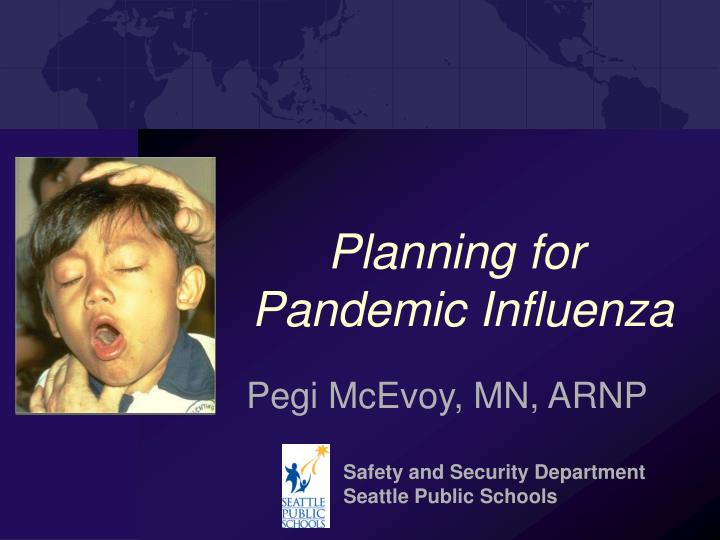 planning for pandemic influenza n.