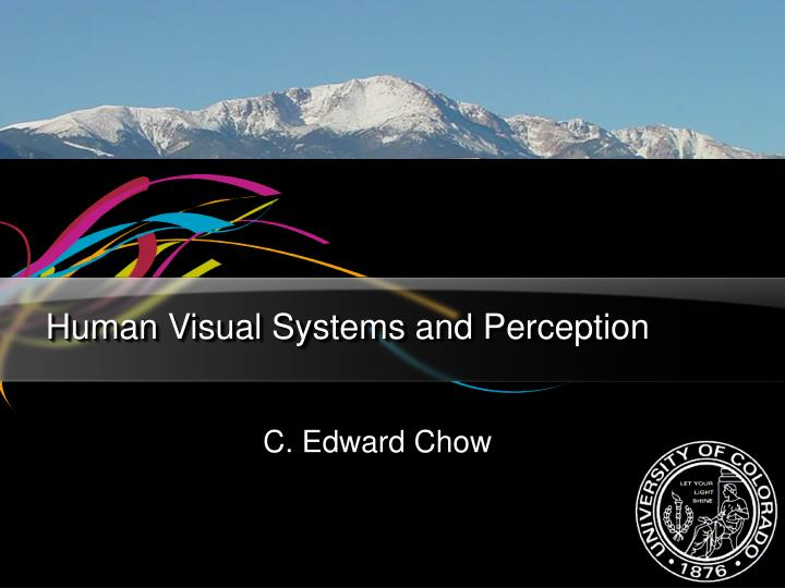 human visual systems and perception n.