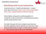 identifying child sexual exploitation