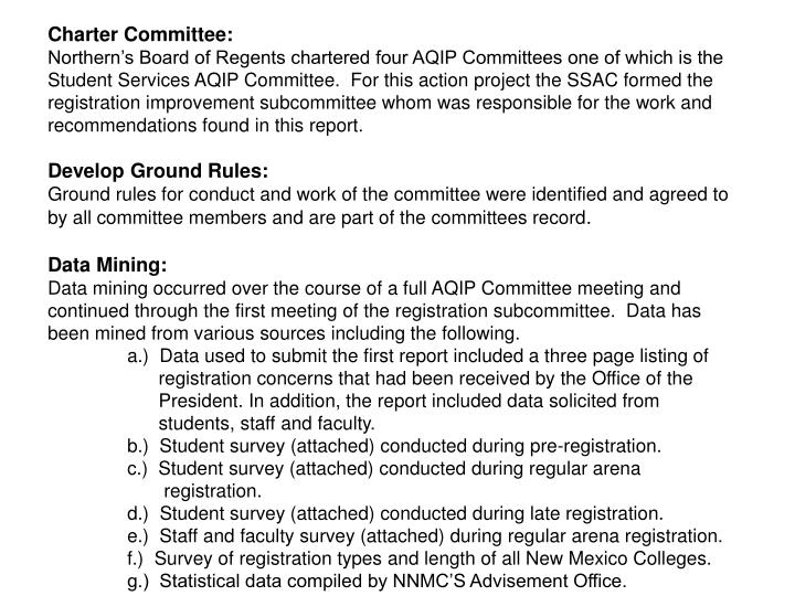 Charter Committee: