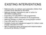 existing interventions