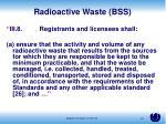 radioactive waste bss