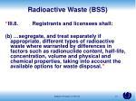 radioactive waste bss1