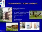 accommodation student residences
