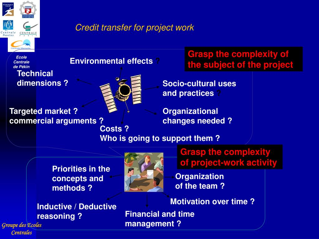 Credit transfer for project work