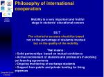 philosophy of international cooperation