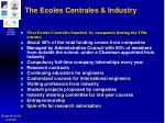 the ecoles centrales industry