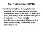 am fruit growers 1931