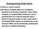 distinguishing parke davis