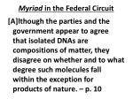 myriad in the federal circuit