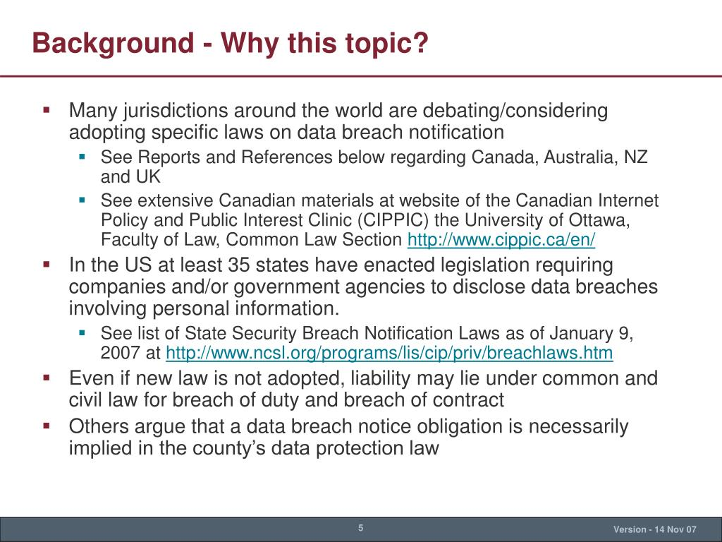 Background - Why this topic?