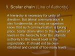 9 scalar chain line of authority