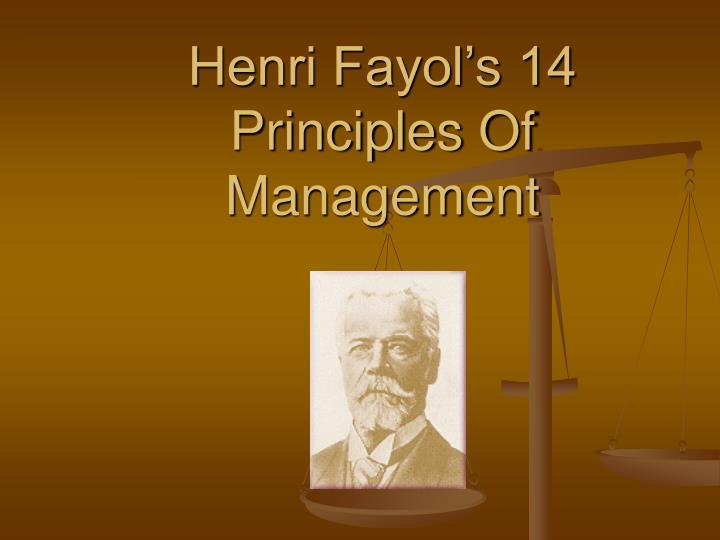 Ppt henri fayol's 14 principles of management powerpoint.