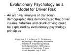 evolutionary psychology as a model for driver risk
