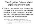 the cognitive failures model explaining driver faults