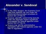alexander v sandoval
