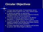 circular objectives