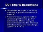dot title vi regulations2
