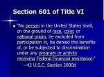 section 601 of title vi