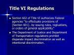 title vi regulations