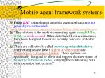 mobile agent framework systems