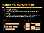 nature vs nurture in iq2